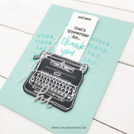 """612345 Concord & 9th Clear Stamps Type Talk 6""""X6"""""""
