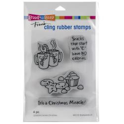 252102 Stampendous Cling Stamp Cookie Christmas