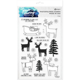 """HUR78975 Simon Hurley create. Clear Stamps Oh Deer! 6""""X9"""""""