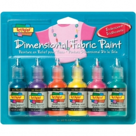 359459 Scribbles 3D Fabric Paint Iridescent