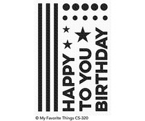 CS-320 My Favorite Things Happy Birthday to You Clear Stamps