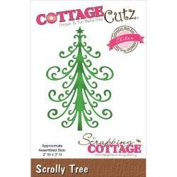 500661 CottageCutz Elites Die  Scrolly Tree
