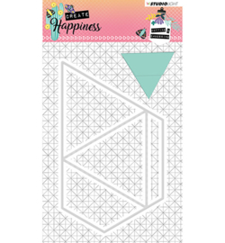 STENCILCR159 Cutting and Embossing Die Create Happiness nr.159