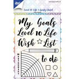 6410/0518 Clear stamp Dayenne Level 10 Life& Goals Chart