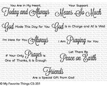 CS-351 My Favorite Things Beautiful Blessings Clear Stamps