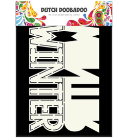 470.713.642 Dutch DooBaDoo Dutch Card Art Text 'Winter'