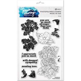 "HUR78128 Simon Hurley create. Cling Stamps Lovely Lantanas 6""X9"""