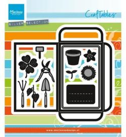 CR1395 Marianne Design Craftables Seed pocket & garden tools