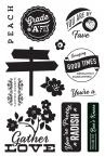394522 Basic Grey Herbs & Honey Cling Stamps By Hero Arts Gather Love
