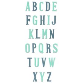 664724 Sizzix Bigz XL Die Alphabet - Nostalgic