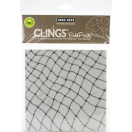 "602675 Hero Arts Background Cling Stamp Fishing Net Bold Prints 6""X6"""