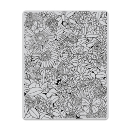 """649323 Hero Arts Cling Stamp Butterfly Garden Background 4.6""""X5.88"""""""