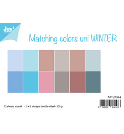 6011/0544 Matching Colors Uni Winter Papier Set A4