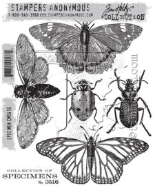 """CMS 410 Tim Holtz Cling Stamps Specimen 7""""X8.5"""""""