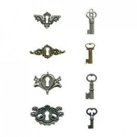 ADTH92822 Tim Holtz Locket Keys