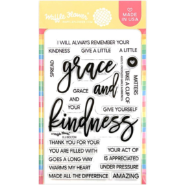 """657034 Waffle Flower Crafts Clear Stamps Oversized Grace & Kindness 4""""X6"""""""