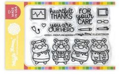 "640418 Flower Crafts Clear Stamps Frontline Heroes 1 3""X4"""