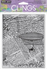 HA-CGE-CG450 Hero Arts Cling Stamps  Fly Away Newsprint