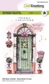 130501/2301CraftEmotions clearstamps A6 - Oude deur met toog - Decoration X-mas Carla Kamphuis