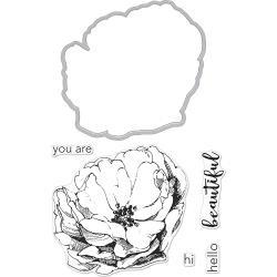 252053 Hero Arts Florals Stamp & Cut Rose