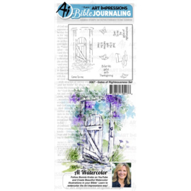 584625 Art Impressions Bible Journaling Watercolor Rubber StampsGates Of Righteousness