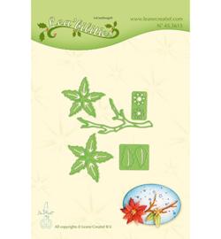 45.3615 Lea'bilitie Cutting/Emb. Poinsettia small & branche