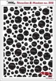 CLSTM302 Crealies Stencilzz/Maskzz Cirkels ruwe randen