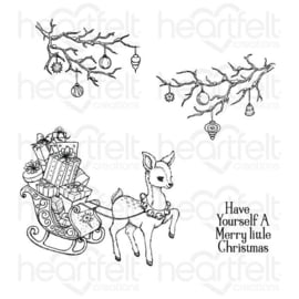 "521078 Heartfelt Creations Cling Rubber Stamp Set Merry Little Christmas 5""X6.5"""