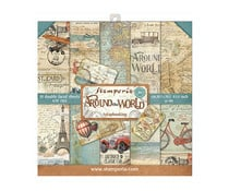 SBBS12 Stamperia Around the World 8x8 Inch Paper Pack