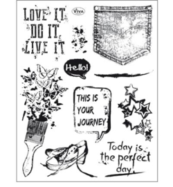 4003.157.00 ViVa Clear Stamps	Grunge