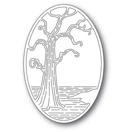 640187 Poppystamps Metal Dies Twisted Tree Oval
