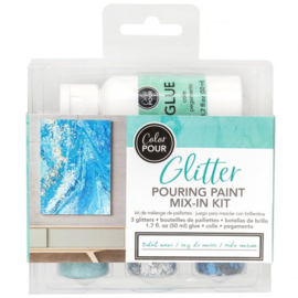 348483 American Crafts Color Pour glitter mix  tidal