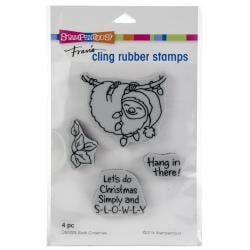 252107 Stampendous Cling Stamp Sloth Christmas