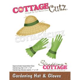 """CC743 CottageCutz Dies Gardening Hat & Gloves 1"""" To 2.5"""""""