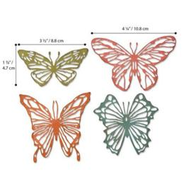 664409 Sizzix Thinlits Die Scribbly Butterflies Tim Holtz 4pk
