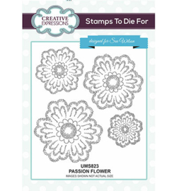 UMS823 Creative Expressions To Die For Stamp Passion Flower