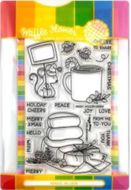 642427 Waffle Flower Stamp & Die Set Holiday Cheese