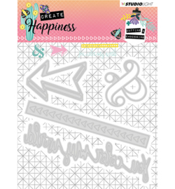 STENCILCR156 Cutting and Embossing Die Create Happiness nr.156