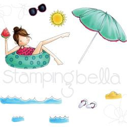 075852 Stamping Bella Tiny Townie Cling Stamp Set Frances Loves To Float