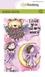 130501/1645 CraftEmotions clearstamps A6 - Angel & Bear 2 Carla Creaties