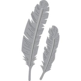 S2270 Spellbinders Shapeabilities Die D-Lites Two Feathers
