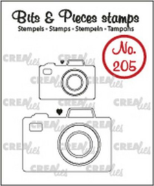 130505/0205 Crealies Clearstamp Bits&Pieces 2x camera