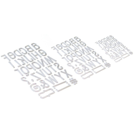 EC1741 Elizabeth Craft Metal Die Retro Alphabet Trio