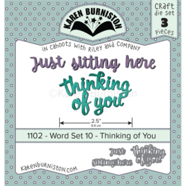 KBR1102 Karen Burniston Dies Word Set 10 - Thinking Of You