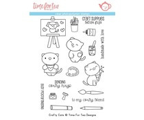 T4T/332/Cra/Cle Time For Tea Crafty Cats Clear Stamps