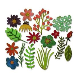 662700 Sizzix Thinlits Die Set Funky Floral 15PK