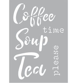 470.266.004 Kippers Stencil A5  Coffee Soup Tea