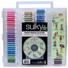 885-19 Sulky Original Slimline Holiday Spoolie Collection #2 Asst