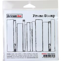 "DDFR031 Darkroom Door Frame Cling Stamp Book Spines 4.2""X3.1"""