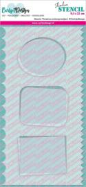 CDSC-0013 CarlijnDesign Stencil Slimline Achtergrondjes 1